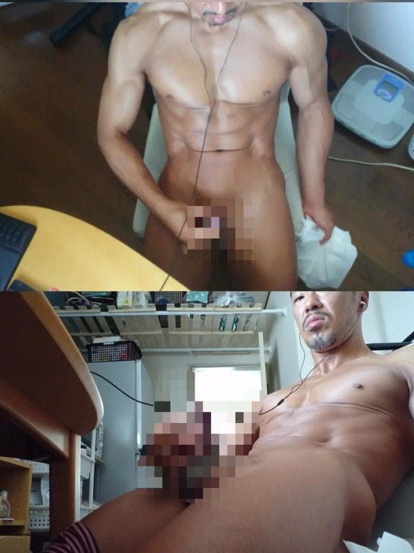 【No.1ゲイ男優】2画面自宅オナニー!